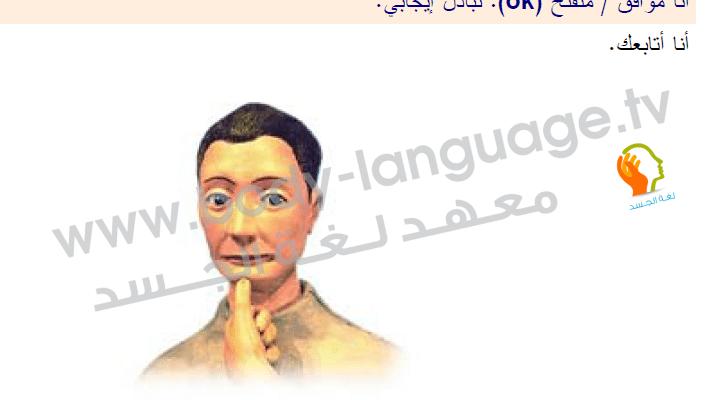لغة الجسد بالصور, الذقن , صور, إشارات, حركات