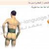 لغة الجسد بالصور - الظهر