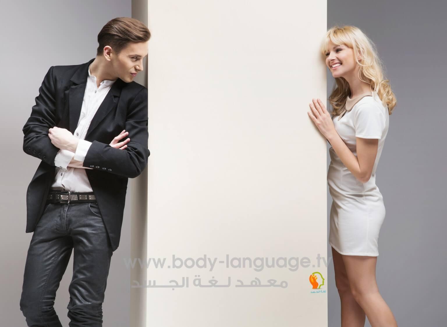 الاستعراض - لغة الجسد في الحب عند الرجل المحب و المعجب بالصور pdf